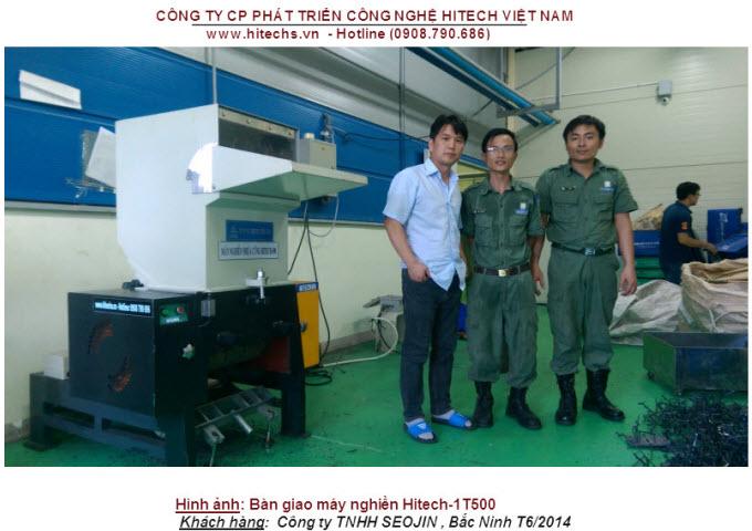 Máy nghiền nhựa rác Hitech1T500-0908790686