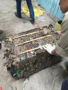 Kiện rác phế liệu sau khi ép