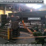 chế tạo máy ép phế liệu thủy lực Hitechvn