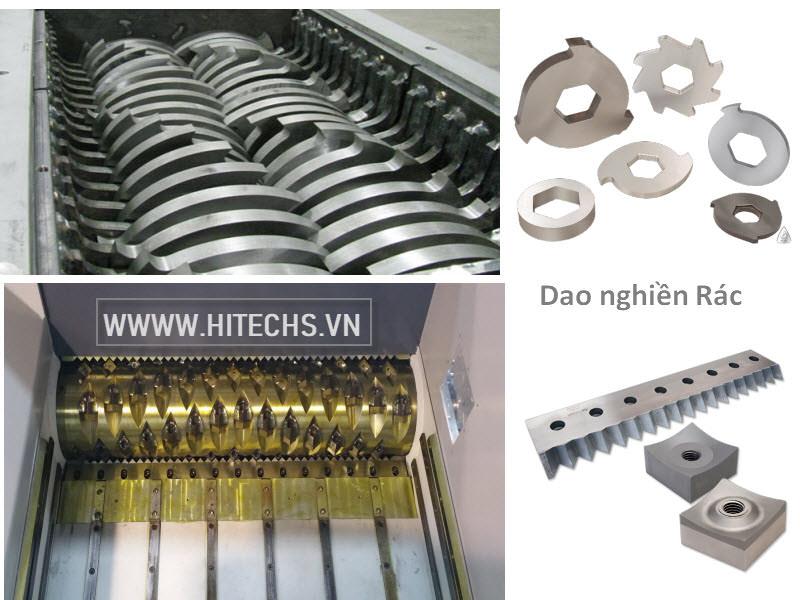 dao cắt rác, nghiền rác thải, chế tạo tại Hitech Việt nam, Giá tốt, chất lượng cao
