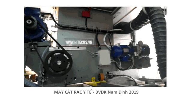 Máy cắt rác y tế ưu việt, chất lượng cao. Máy do Hitech chế tạo tại Việt nam