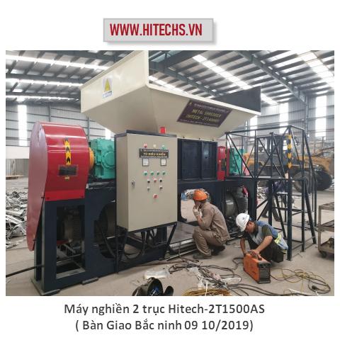 Máy Xay Gỗ lớn 2 trục,Máy băm nghiền 2 trục năng suất lớn, chất lượng cao. Sản xuất HITECHVN. Hotline( 0908 790 686)model Hitech-2T1500AS