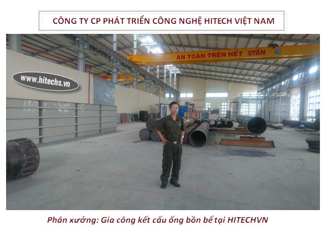 phân xưởng gia công đường ống, bể chứa hitechvn tại Biên Hòa, Đồng Nai