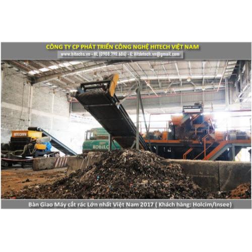 máy cắt chất thải rác