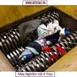máy xay nghiền rác 4 trục