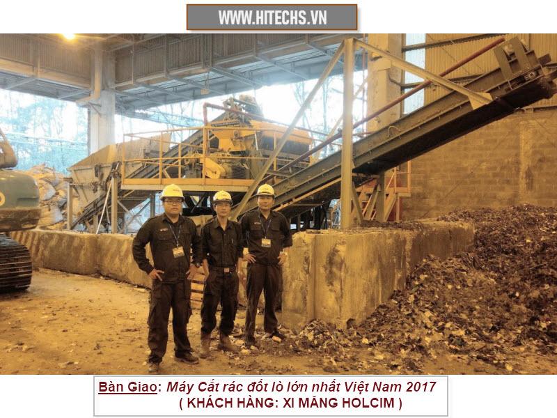 máy nghiền cắt xay rác lớn nhất Việt Nam2017 do Hitechvn chế tạo
