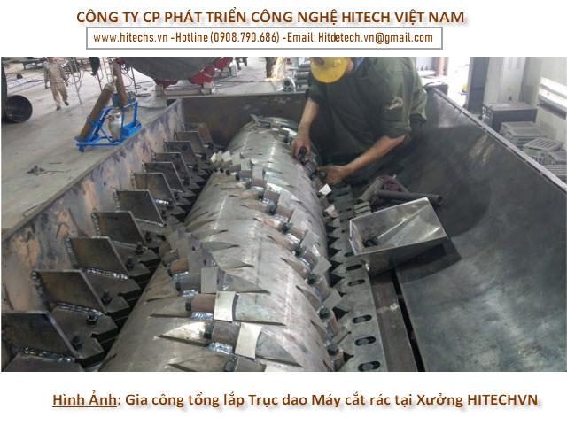 Hình ảnh chế tạo tổng lắp trục nghiền bào 1 trục tại nhà máy Hitechvn